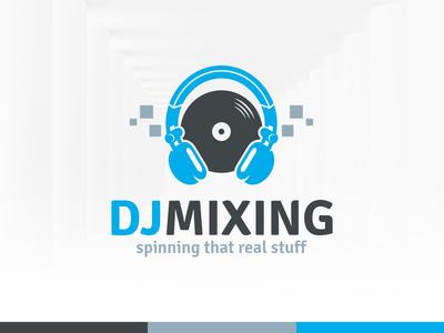 dj mixing logo template by alex broekhuizen dribbble