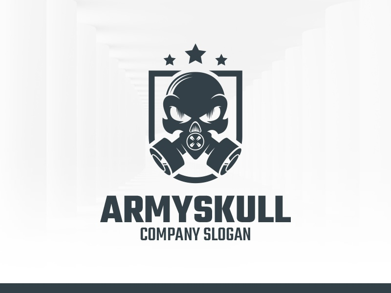army skull logo template by alex broekhuizen dribbble. Black Bedroom Furniture Sets. Home Design Ideas