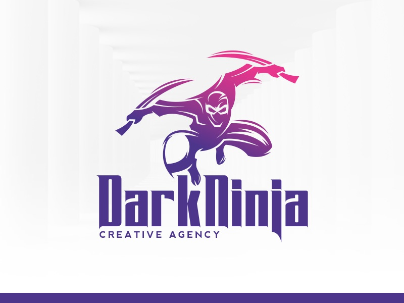 dark ninja logo template by alex broekhuizen dribbble dribbble