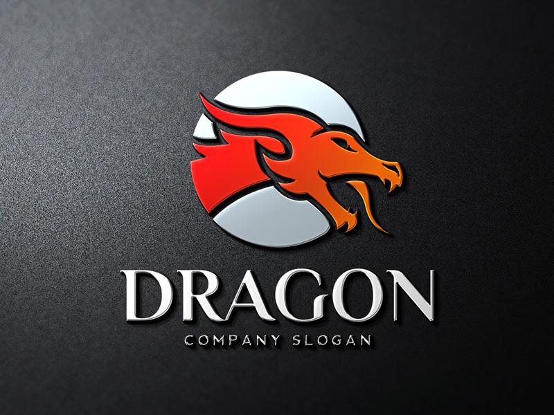 dragon head logo template by alex broekhuizen dribbble