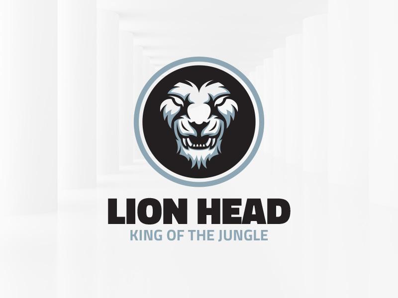 lion head logo template by alex broekhuizen dribbble