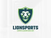 Lion Sports Logo Template