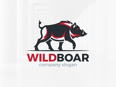 Wild Boar Logo Template sale template logo vector swine boar wild