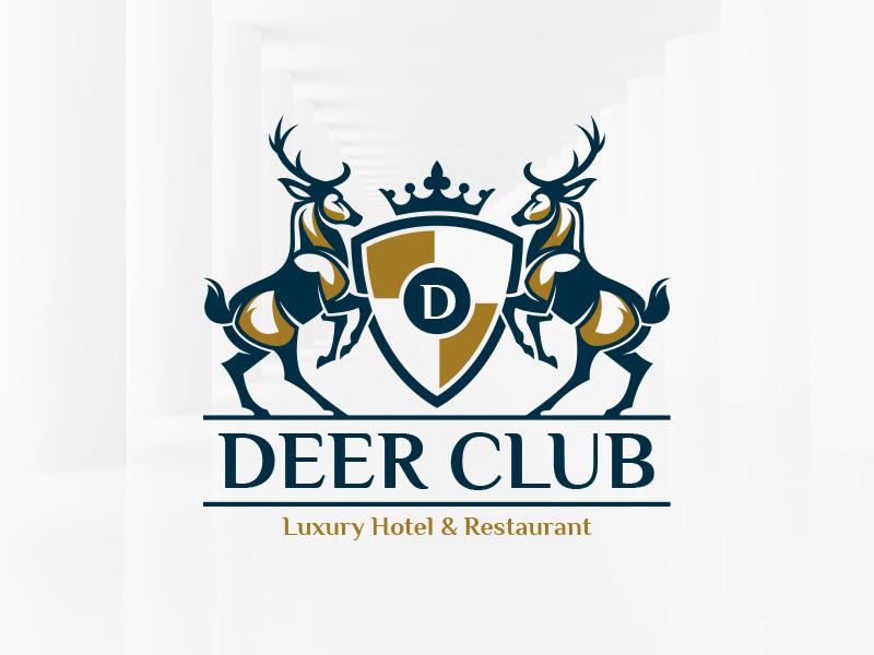 deer club logo template by alex broekhuizen dribbble dribbble