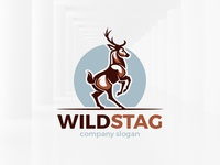 Wild Stag Logo Template