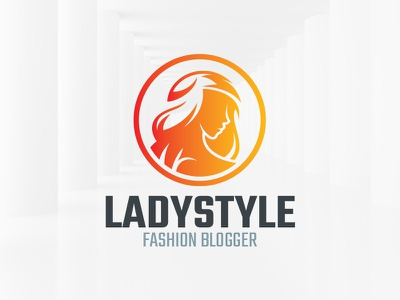 Lady Style Logo Template face girl vector head template logo lady woman
