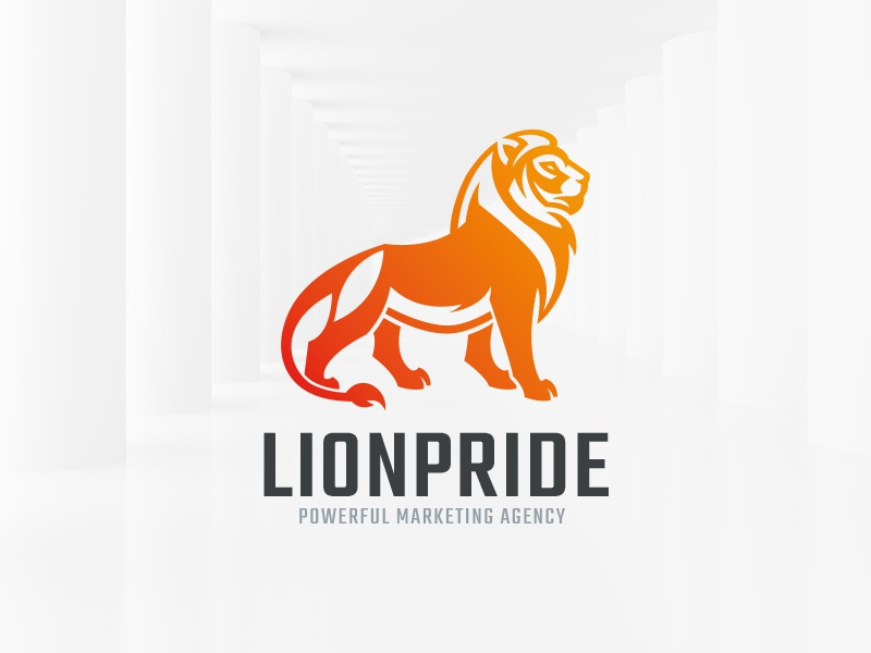 Lion Pride Logo Template envato buy template company vector sale logo proud lion