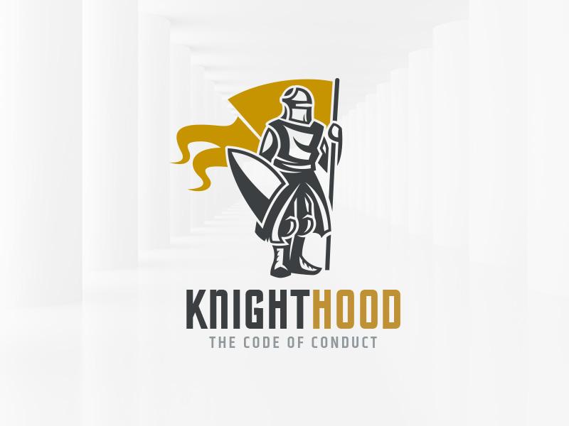 Knighthood Logo Template sale print illustration vector template logo flag shield knight