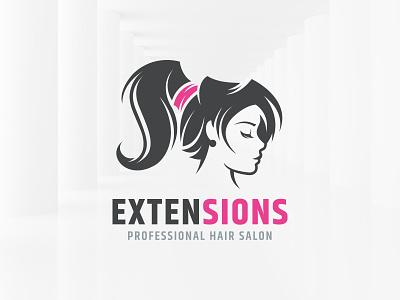 Extensions Hair Salon Logo sale vector beauty salon logo woman hair extensions