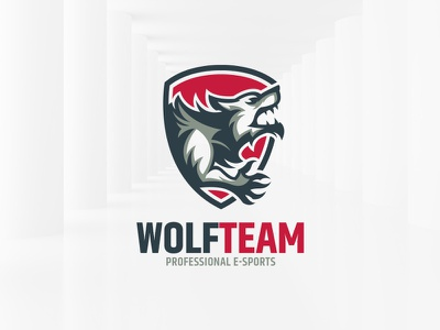 Wolf Team Logo Template creature sale template logo vector shield wolf werewolf
