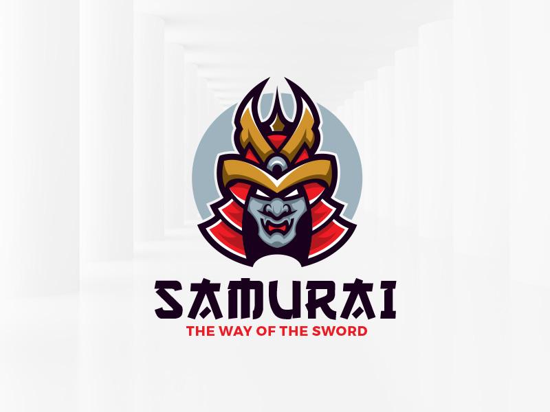 Samurai Logo Template template logo illustration vector helmet head samurai