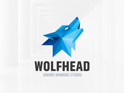 Wolf Head Logo Template template vector logo head polygon wolf