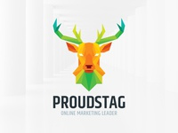 Proud Stag Logo Template
