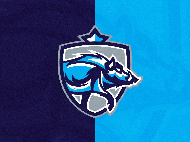 boar crest logo template by alex broekhuizen dribbble