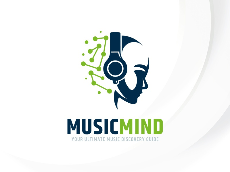 Music Mind Logo Template dj sound template logo headphone mind head music