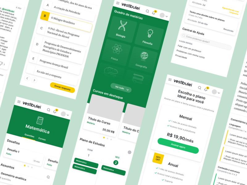 Vestibulei | Mobile ux ui study school platform front end educational education design courses mobile