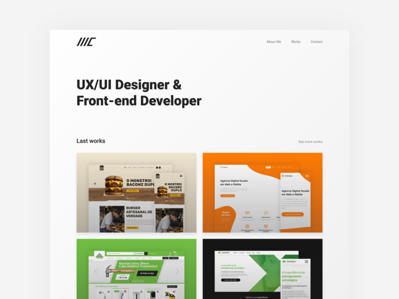 Portfolio ux ui developer front end designer marcocuel