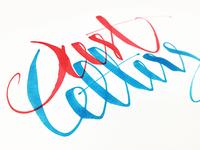 One line calligraphy practice