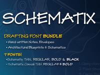 Schematix: Blueprint-style Handwriting Font