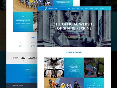 Olympian Cyclist's Website ux ui grid video website sport olympic cycling