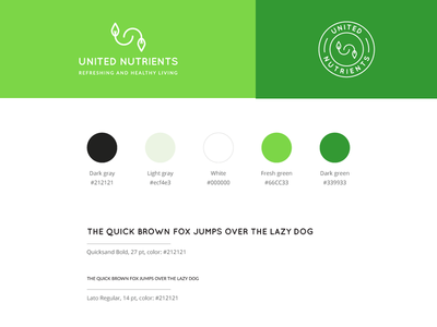 Nutrients Green Logo circular color palette green logo design branding