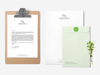 Green Branding hand made sticker logo plant organic envelope letterhead stationery identity print branding