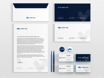 Low Stationery Design branding envelope pins letterhead logo business card stationery