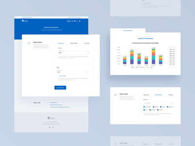 Data visualization page for MRWA ui components website clean blue filter data data visualization responsive website