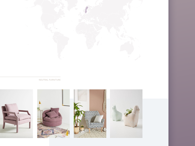 Decor & fashion landing page clean lilac fashion decor store online