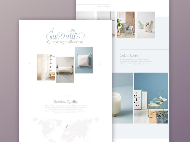 Decor & fashion landing page clean lilac fashion decor store online
