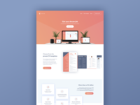CV App landing page clean bright color landing page design ui ux