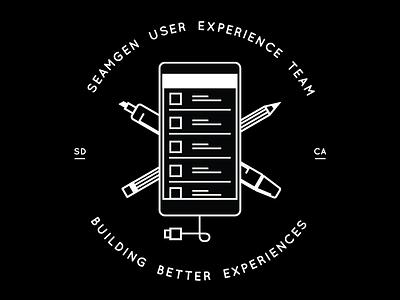 Seamgen UX Team Badge ux icon badge team ux