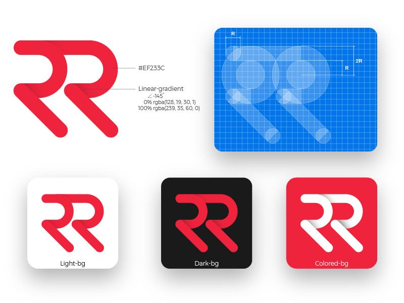 Personal Logo rr robinson rico personal branding logo