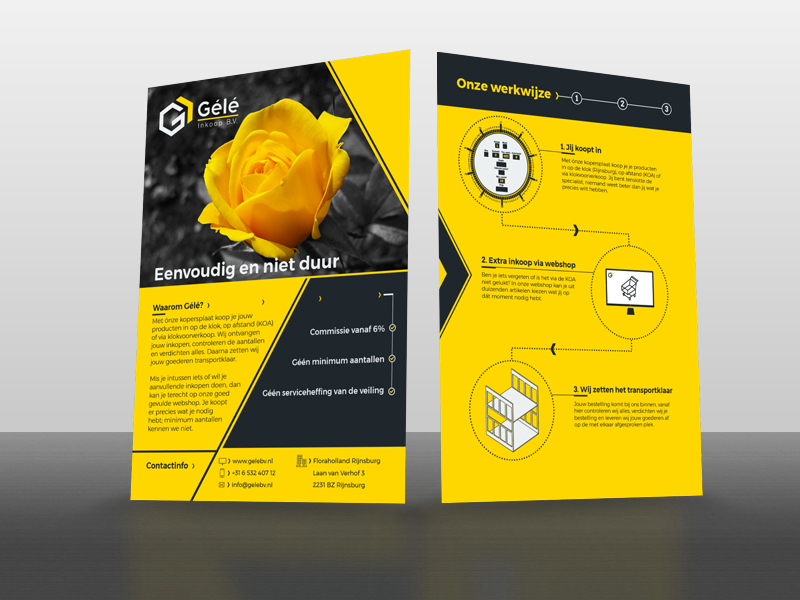 Gélé corporate flyer mockup flower corporate paper a5 design mockup flyer wholesale