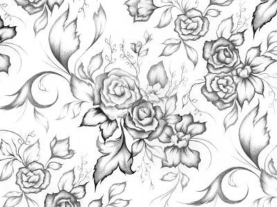 // Seamless Pattern // packagedesign illustraor productdesign design pencildrawing graphite sketch mikhaeladavisillustration mikhaeladavis blackandwhite illustration drawing