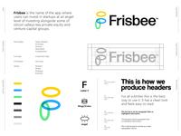 Frisbee - Logo Design 👼🏻 frisbee bee angel logo logo design rotation invest fund funding angel level angel investor branding logo grid logo identity identity design f monogram butterfly finance venture