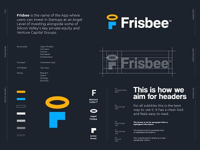Frisbee - Logo Design 👼🏻 creative logo abstract logo arrow f monogram silicon valley finance invest angel styleguide logo design frisbee letter lettering icon mark monogram branding identity logo