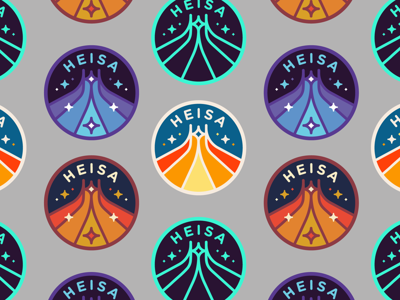 Heisa - Apparel Design Project 🚀 brand design graphic design illustration festival chaos free spirit techno space starts rocket retro logo emblem logo badge emblem fashion brand clothing netherlands dutch heisa