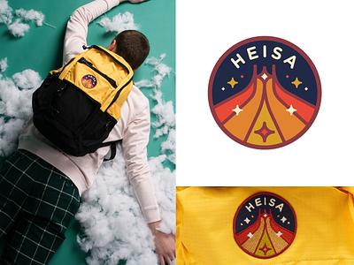 Heisa - Apparel Design Project 🚀 brand design graphic design illustration festival chaos free spirit techno space starts rocket retro logo emblem logo badge emblem fashion brand clothing netherlands dutch heisa