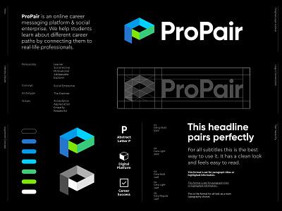 ProPair - Logo Design / Part 2 ✅ branding creative logo design logo design abstract logo success career cube digital learn platform educate book ribbon student connect pairing checkmark check pair pro