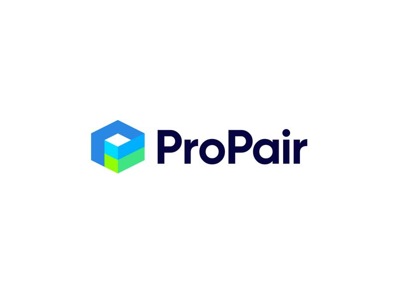 ProPair - Logo Concept / Tweaked logo concept creative logo logo designs branding social digital enterprise messaging platform work career educate help matching student professional team connect pair pro logo design