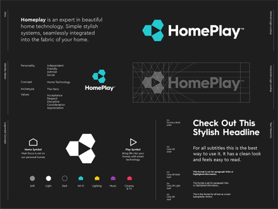 HomePlay  - Logo Redesign ▶️ player airplay application app tv cinema wifi music system smart redesign technology play home