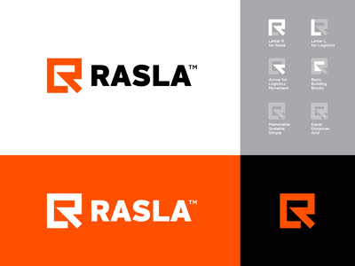 Logo Design for Rasla Logistics 🟧 visual identity brand identity logo design logo branding symbol lettermark rl monogram monogram l r storage saudi arabia warehouse logistics logistic arabic arabian saudi rasla
