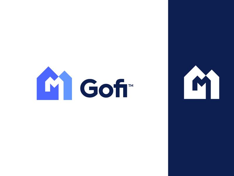 Logo Design - Gofi Mortgage 🏠 brand identity branding logo design logo monogram hm m h houses homes mortgage home gofi