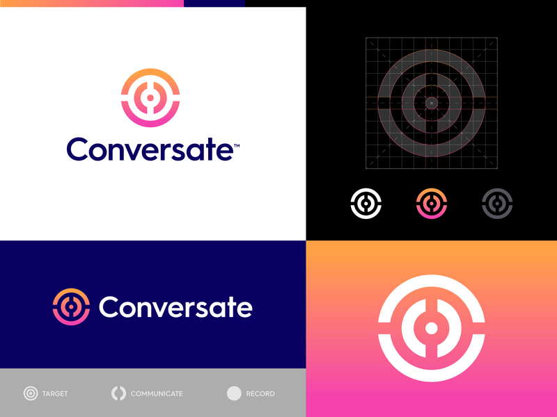 Conversate - Logo Design Update ⏺️ interview wave sound voice logogrid logo creative logotype gradient symbol branding result goal bullseye target record chat talk conversation logo design logo