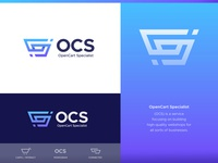 OpenCart Specialist - Logo Design (2) 🛒 branding design logo connection connect lettermark logo monogram ocs cart logos visual identity design brand identity abstract logo gradient creative logo abstract logo design lettering monogram branding identity logo