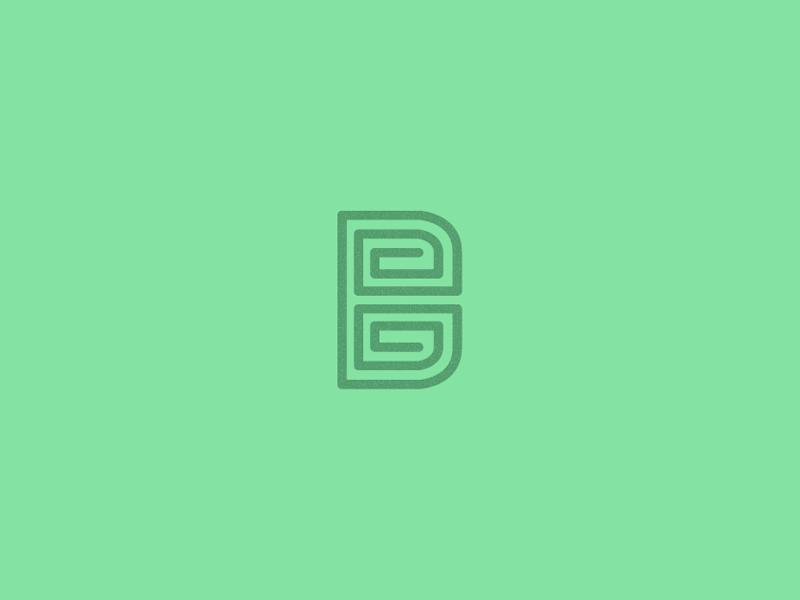 B Mark.  mark b letter concept monogram line art