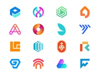 Logofolio - 2020, Part 2. logo designer iconography icons symbols crypto logos crytpo gradients creative concepts portfolio logomark visual identity brand identity design branding creative logos logos logofolio logo