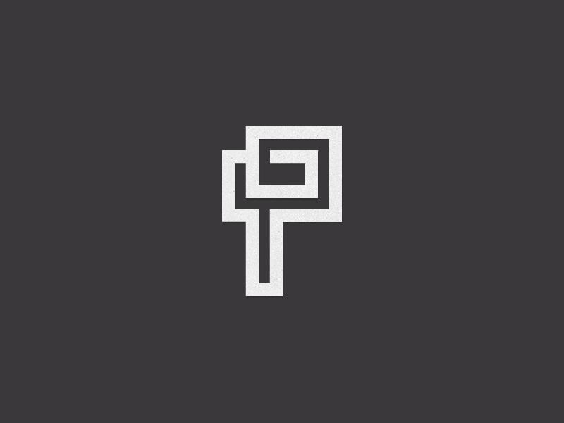 PG Monogram. p g monogram letter lettering custom mark logo branding art