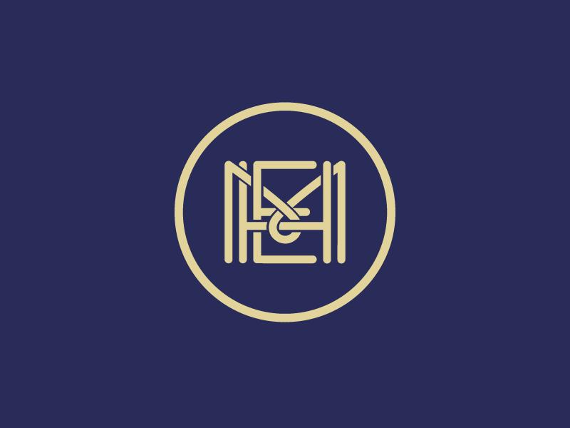 MHE Monogram Refined.  monogram logo design letter lettering custom project m h e branding
